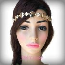 Gold Rhinestone and Coin Head Band