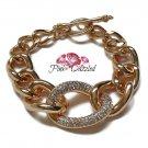 Pave Crystal Chunky Chain Bracelet