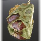 Rhyolite Wire Wrapped Pendant 14k Gold Fill Neckla