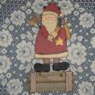 Handpainted Wood Santa Wall Hanging New