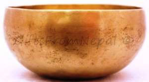 """6"""" Hand Hammered Singing Bowl,  Made of 7 metals, FREE cushion,Retails- $80"""