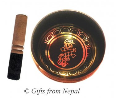 "5"" Tibetian Singing bowl - made of 7 metals, meditation bowls from Nepal 2002b"