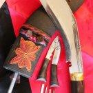 "10.5""Gangawala horn , Gurkha Khukuri , Kukuri, Kukri, Handmade knife, Blade 1027"