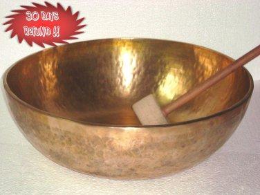"20"" Tibetan Hand Hammered Singing Bowl,7 Metals Meditation Bowls Nepal 2059"