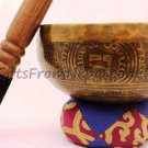 "6"" Hand Hammered/Painted Singing Bowl, Handmade Meditation Bowl From Nepal 2021b"