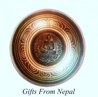 "6"" Inside Crafted Singing Meditation Bowl,Made of 7metal,Handmade,Nepal 2033"