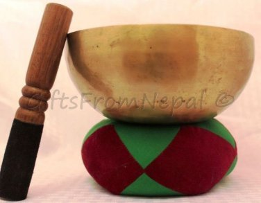 "6"" Hand Hammered Singing Meditation Bowl, Made of 7metals,Handmade in Nepal 2012"