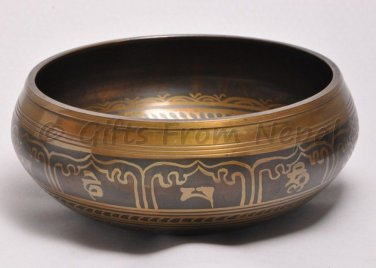 "7"" Tibetian Singing bowl - Made of 7 metals, Meditation bowls from Nepal 2007"