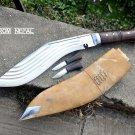 """14"""" Shree 5 Chirra Kukuri, Handmade Kukri Blade, Gurkha Khukuri from Nepal 04"""