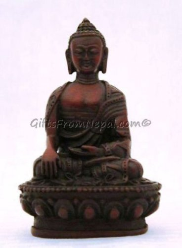 6.5 inch Buddha Resin Statue- Hand Made In Nepal - 30004 RS13