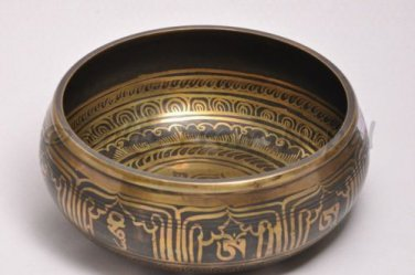 """8"""" Tibetian Singing bowl - Made of 7 metals, Meditation bowls from Nepal 2008"""