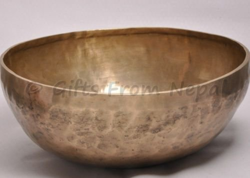 "14"" Hand Hammered Singing Bowl,  Made of 7 metals, Meditation Bowls Nepal 2055"