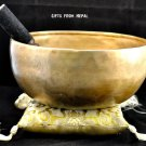 "5.5"" Hand Hammered Singing Bowl, Made of 7 metals, FREE cushion, Retails-$70"