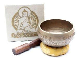 """3.6"""" Tibetan Singing Bowl - Bronze Singing Bowl - Meditation Chakra Singing Bowl"""
