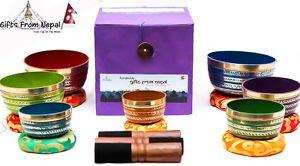 Tibetan Singing Bowl Sets - 7 Sets of Chakra Healing Meditation Bowls From Nepal