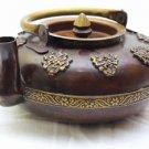 Handmade Tibetan Teapot Decorative Antique Design Buddhist Brown Teapot