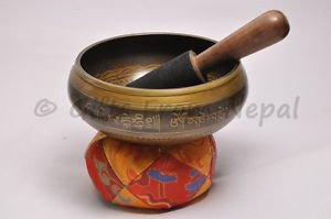 "6"" Tibetan Singing Bowl -Inside Crafted Singing Meditation Bowl-Made of 7 metal"