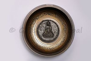 "6.5"" Inside Crafted Singing Meditation Bowl,Made of 7metal,Handmade,Nepal 2034"