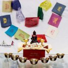 Tibetan Ritual Buddha Box - Prayer Flag, Buddha Statue, Beads Mala, Offering Cup