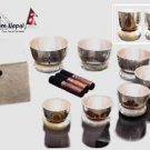 Tibetan Singing Bowl Sets of 7 - Itching Carving Chakra Meditation Singing Bowls