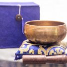 "Tibetan Singing Bowl - 3"" Handcrafted design Made in Nepal - Blue"