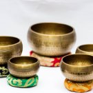Chakra Healing Singing Bowls -Tibetan Singing Bowl Sets of 5 -Antique Chakra Set
