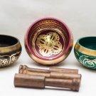 Tibetan Singing Bowl Sets of 3 - Chakra healing Singing Bowl from Nepal