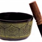 Tibetan Buddha yoga Singing Bowls healing and Meditation Bowl with Cushion -5.5""