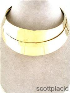 Chunky Bright Shiny Gold Chain Choker Collar Fashion Costume Jewelry Necklace