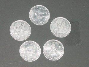 5 AC RA Lucky Winner Coins Redeem for Merchandise VINTAGE FAIRGROUND TOKEN Lot 2