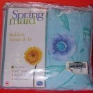 New SPRING MAID Twin Bed Skirt NIP Blue Flowered Bedding Bedskirt