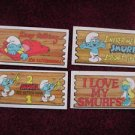 4 Smurf Super Cards Rare 1982 Topps Trading Card Lot 3