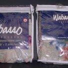 2 Pillow Shams Blue Floral Wabasso Trousseau Bed Cases