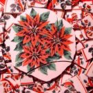 100 Poinsettia Pinecones Lot 4 Mosaic Tiles