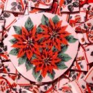 100 Poinsettia Pinecones Lot 3 Mosaic Tiles