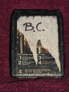 Neil Young American Stars �N Bars Vintage 8 Track Tape Stereo Music Cartridge