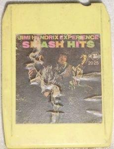 Jimi Hendrix Experience Smash Hits Vintage 8 Track Tape Stereo Music Cartridge