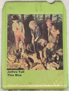 Jethro Tull This Was Vintage 8 Track Tape Stereo Music Cartridge Cassette