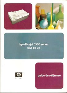 HP Officejet 5500 Series Guide French Version Hewitt-Packard Printer All-in-one