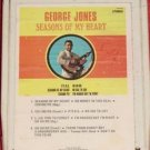 George Jones Seasons Of My Heart Vintage 8 Track Tape Stereo Music Cartridge