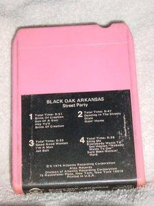 Black Oak Arkansas Street Party Vintage 8 Track Tape Stereo Music Cassette