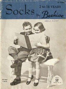 Vintage Socks 2 to 14 years by Beehive Series No. 68 Magazine