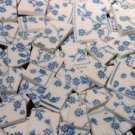 96 BLUE CHINTZ FLOWERS Mosaic Tiles
