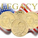 Obama Legacy + 2 Hillary Clinton Gold Coins
