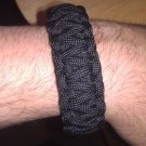 "Dual Core Black 550 paracord bracelet with 5/8"" whistle buckle"