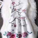 Floral Pattern Concealed Zipper High-Waist Dress