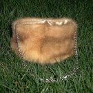 Lighter Brown Mink Evening Bag is a rich brown and has a silvertone chain strap