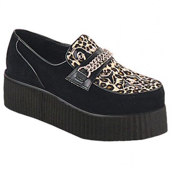 Men's Suede Platform Shoes/Chain Accent and Cutout Designs