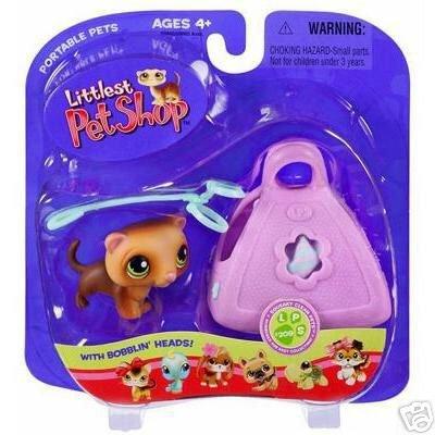 Littlest Pet Shop Ferret with Leash & Purse Little PetShop New