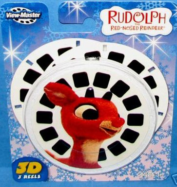 View Master RUDOLPH 3D Reels Set 3 Pk Viewmaster New